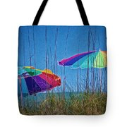 Umbrellas On Sanibel Island Beach Tote Bag
