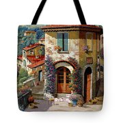 Un Cielo Verdolino Tote Bag by Guido Borelli