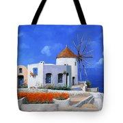 un mulino in Grecia Tote Bag