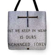 Unchanged Forever Tote Bag