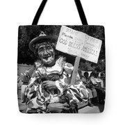 Uncle Harry Clown Drive Carefully  God Bless America Sign Tucson Arizona 1991 Tote Bag