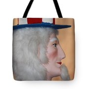 Uncle Sam Closeup Red White And Blue Tote Bag