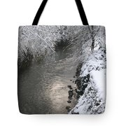 Under A Blanket Of Snow Tote Bag