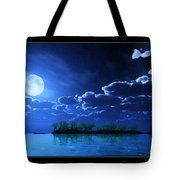 Under A Silvery Moon...artistic Effect Tote Bag