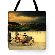 Under An Ominous Sky Tote Bag