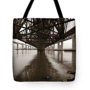 Under Bridges Tote Bag