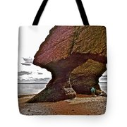 Under Fundy Feet In Big Cove At Hopewell Rocks-new Brunswick Tote Bag