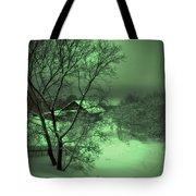Under Green Moon Tote Bag