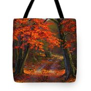 Under The Blazing Canopy Tote Bag