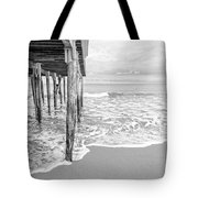 Under The Boardwalk Black And White Tote Bag