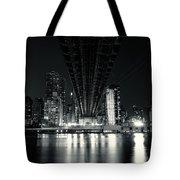 Under The Bridge - New York City Skyline And 59th Street Bridge Tote Bag