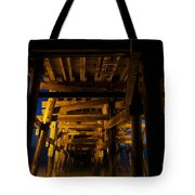Under The Pier At Night Tote Bag