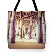 Under The Pier In Orange County California Picture Tote Bag by Paul Velgos