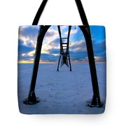 Under The Pier In St. Joseph At Sunset Tote Bag