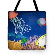 Under The Sea Mural 1 Tote Bag