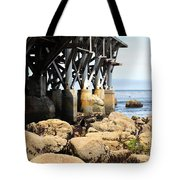 Under The Steinbeck Plaza Overlooking Monterey Bay On Monterey Cannery Row California 5d25050 Tote Bag
