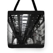Under The Tracks Tote Bag