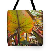 Under The Tropical Leaves Tote Bag