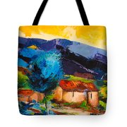 Under The Tuscan Sky Tote Bag by Elise Palmigiani