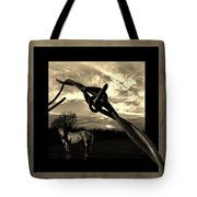 Under The Wire Tote Bag