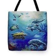 Under Water Antics Tote Bag