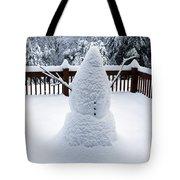 Undercover Snowman Tote Bag