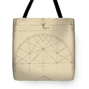 Underdrawing For Building Temporary Arch Tote Bag