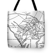 Underground Railroad Map Tote Bag
