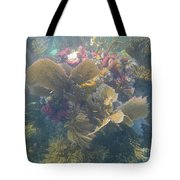 Underwater Colors Tote Bag by Adam Jewell