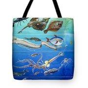Underwater Creatures Montage Tote Bag