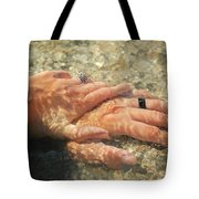 Underwater Hands Tote Bag