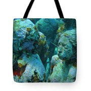 Underwater Tourists Tote Bag
