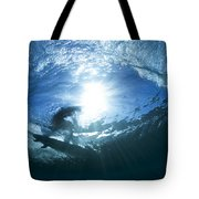 Surfing Into The Eye Tote Bag