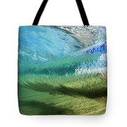 Underwater Wave Curl Tote Bag