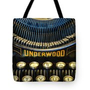Underwood Typewriter Tote Bag