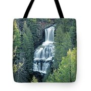 109008-undine Falls In Yellowstone Tote Bag