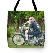 Uneasy Rider Tote Bag