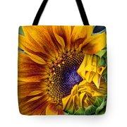 Unfurling Beauty - Cropped Version Tote Bag