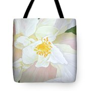 Unfurling White Hibiscus Tote Bag