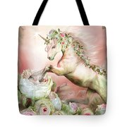 Unicorn And A Rose Tote Bag