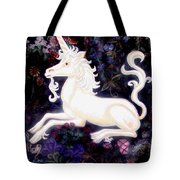 Unicorn Floral Tote Bag by Genevieve Esson