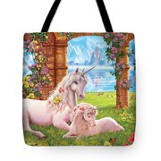 Unicorn Mother And Foal Tote Bag