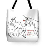 Unicorn Valentines Card Tote Bag