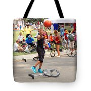 Unicyclist - Basketball - Street Rules  Tote Bag
