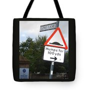 Unintentional Humor Group Of Signs Tote Bag