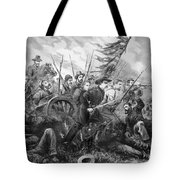 Union Charge At The Battle Of Gettysburg Tote Bag