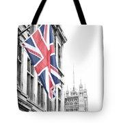 Union Jack Tote Bag by Nancy Ingersoll
