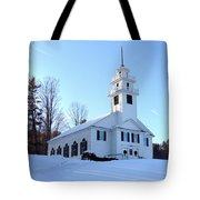 Union Meeting House In West Newbury Vermont Tote Bag