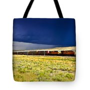 Union Pacific Racing A Thunder Storm Tote Bag