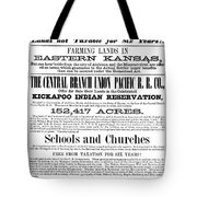 Union Pacific Poster, 1867 Tote Bag